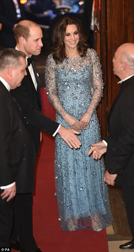 The Duke and Duchess of Cambridge joined a dazzling array of stars at the Royal Variety Performance show