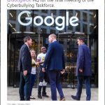 The Duke of Cambridge arrives at @GoogleUK HQ for the final meeting of the Cyberbullying Taskforce Photo (C Prince William Kensington Palace Twitter