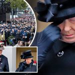 The Queen sheds a tear at Remembrance service Photo C GETTY