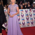 The TV star looked stunning in a lilac gown Photo C GETTY