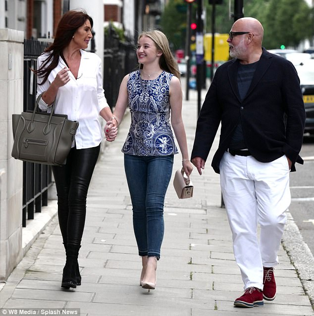 The couple, pictured previously with Mr Goldsmith's daughter Tallulah, arThe couple, pictured previously with Mr Goldsmith's daughter Tallulah, argued in a taxigued in a taxi