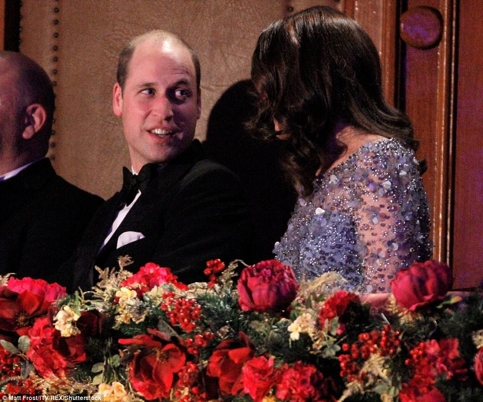 The couple seemed to thoroughly enjoy the 105th Royal Variety Performance Show but they still had eyes for each other