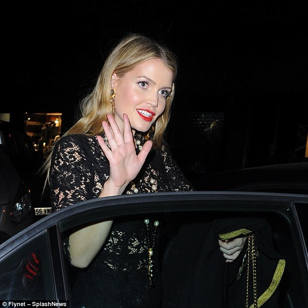 The late Princess Diana's niece, who recently split from was seen leaving the glitzy event with a mystery man after splitting from property tycoon Niccolo Barattieri