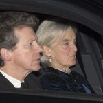 The new Earl of Snowdon David Armstrong Jones who is the nephew of the Queen was seen arriving with a female companion