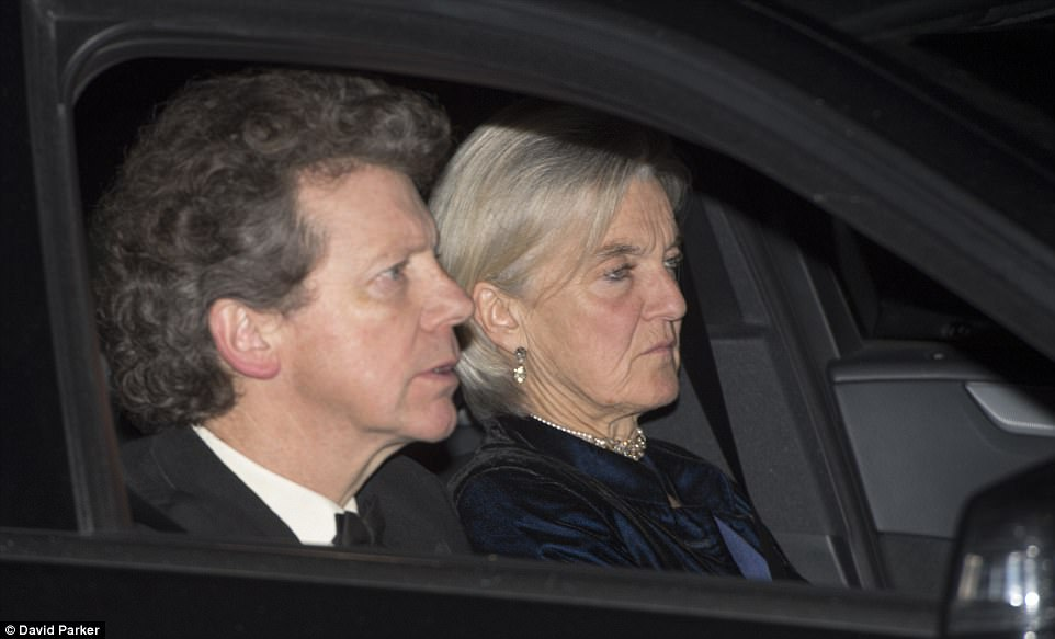 The new Earl of Snowdon, David Armstrong Jones, who is the nephew of the Queen was seen arriving with a female companion