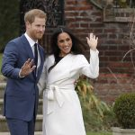 The prince said he was thrilled over the moon adding Very glad its not raining as well. Meghan said she was so happy before they wandered back into Kensington Palace beaming
