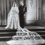 The wedding day – November 1947 Photo C REX SHUTTERSTOCK