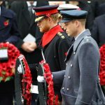 Today The Duke of Cambridge and Prince Harry both laid a wreath in The Remembrance Sunday service at the Cenotaph