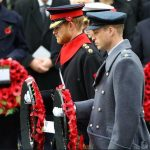 Today The Duke of Cambridge and Prince Harry both laid a wreath in The Remembrance Sunday service at the Cenotaph Photo C TWITTER