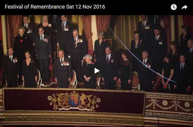 Watch Full Video Festival of Remembrance Sat 12 Nov 2016