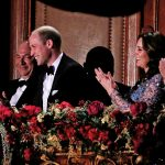 Will gamely takes part in a comedy sketch led by the shows host Miranda Hart while Kate giggled next to him while the couple sat under the spotlight in the royal box