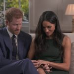 he pair inspect Meghans engagement ring which includes a large diamond from Botswana where they had one of their first dates together camping out under the stars