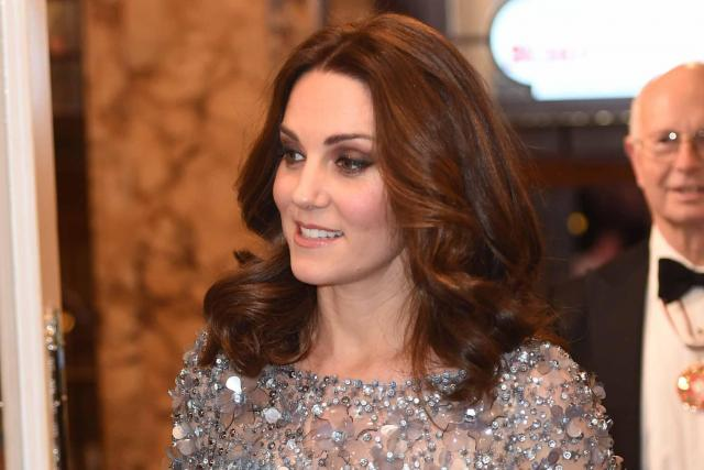 Pregnant Kate dazzled in sequins at the event PA