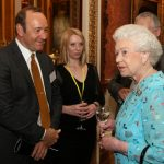 ueen Elizabeth II meets with Dame Helen Mirren and others at a reception to celebrate young people in the arts held at Buckingham Palace Photo C GETTY