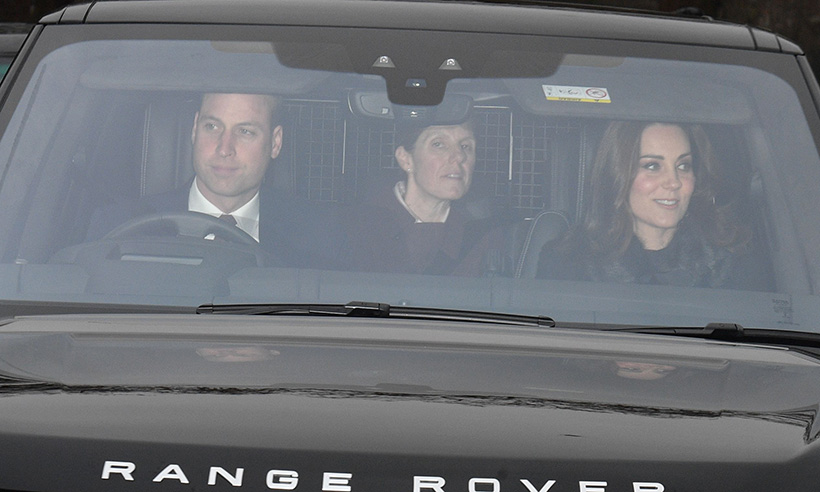 01 The Duke and Duchess of Cambridge arrive for the Queens annual Christmas lunch Photo C GETTY IMAGES