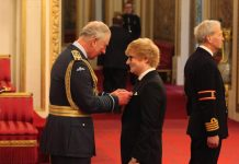 Ed Sheeran Investiture Photo (C) GETTY