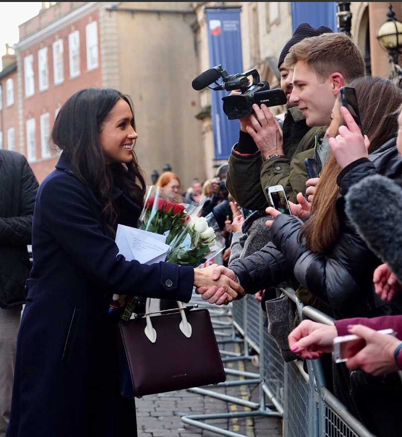 Prince Harry and Ms. Meghan Markle arrive in Nottingham for their first official visit together since announcing their engagement.Photo (C) KENSINGTON PALACE