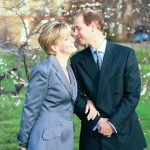 1999 Prince Edward and Sophie Rhys Jones Now the Countess of Wessex pose for their engagement photo