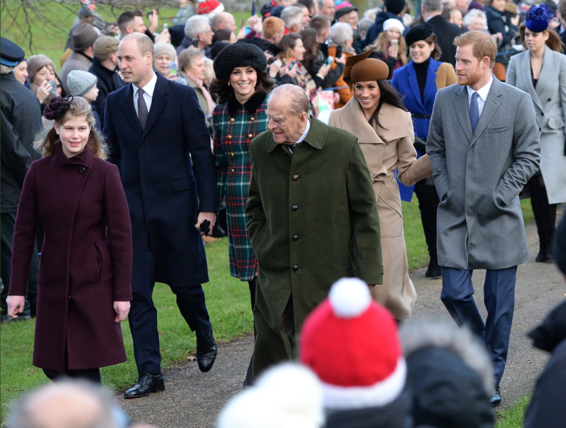 Merry Christmas! The Duke and Duchess of Cambridge, Prince Harry and Ms. Meghan Markle have joined members of the Royal Family for the Morning Service on Christmas Day in Sandringham Photo (C) KENSINGTONPALACE TWITTER