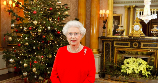 Buckingham Palace has gone totally EXTRA with the decorations this year Photo (C) GETTY