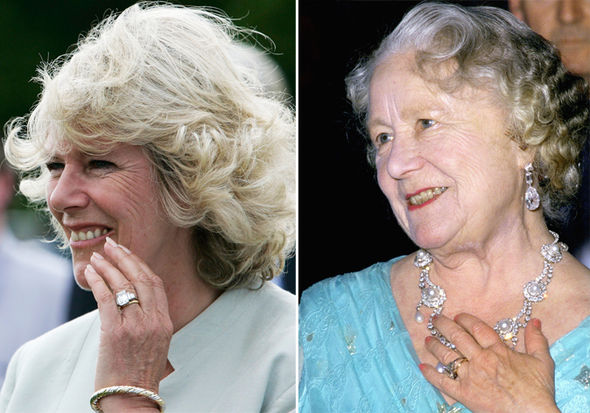 Camilla Parker Bowles Engagement ring from Prince Charles belonged to the Queen Mother Photo (C) GETTY