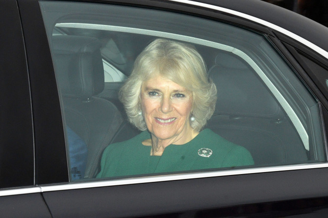 Mandatory Credit: Photo by Tim Rooke/REX/Shutterstock (9298501m) Camilla Duchess of Cornwall Royal Christmas lunch, Buckingham Palace, London, UK - 20 Dec 2017