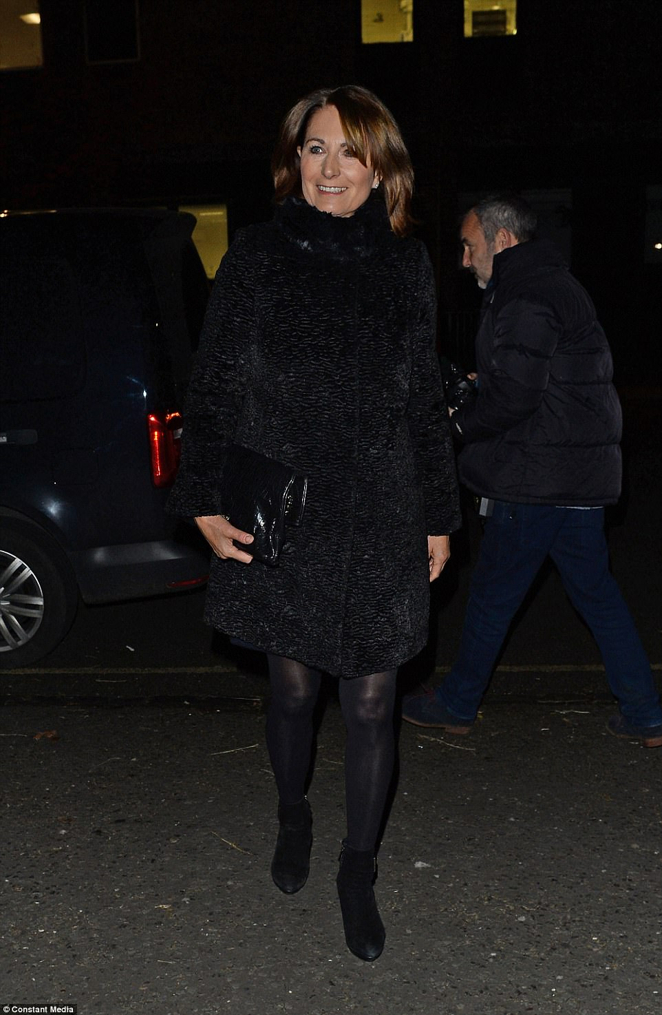 Carole Middleton also attended the carol concert in aid of the charity, which uniquely has both William and his brother Prince Harry as patrons