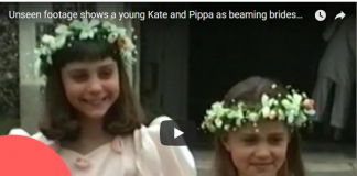 Child Bridesmaids From 1991 Home Movie Turns Out To Be Kate Middleton And Her Sister Pippa