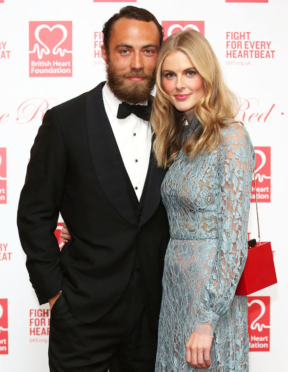 Donna Air Was invited to Pippa Middleton's wedding, and was on James' arm Photo (C) GETTY