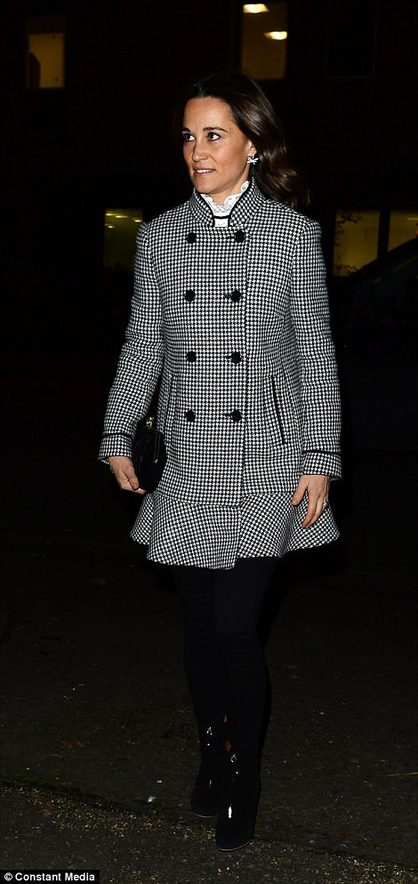 Duchess of Cambridge's younger sister Pippa Matthews who looked chic in a checked jacket
