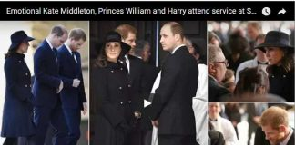 Emotional Kate Middleton Princes William and Harry attend service at St Pauls
