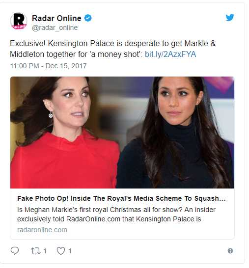 Newest Conspiracy Theory Meghan Markle Is Only Spending Christmas With The Royal Family To Squash Kate Middleton Feud Rumors Photo C TWITTER