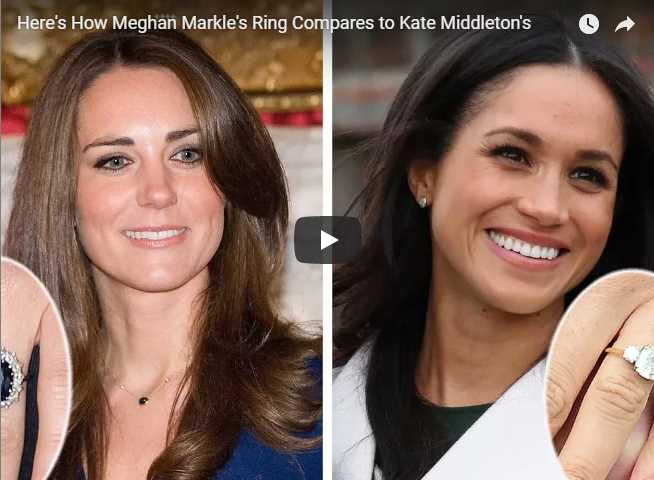 Heres How Meghan Markles Ring Compares to Kate Middletons