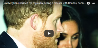 How Meghan charmed the royals by pulling a cracker with Charles, donning a paper hat