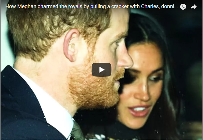 How Meghan charmed the royals by pulling a cracker with Charles donning a paper hat