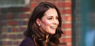 Kate Middleton Duchess had a distinct rosiness to her cheeks, likely due to the cold weather Photo (C) JOHN RAINFORD, WENN