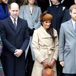 Kate Middleton Prince William Meghan Markle and Prince Harry on Christmas Day. Photo Getty Images