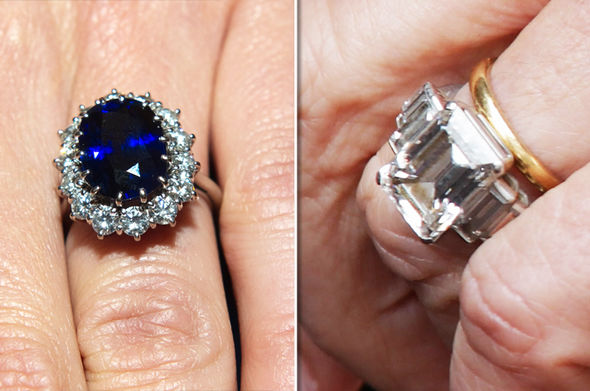 Kate Middleton's engagement ring is worth £300,000, while Camilla's is worth £166,400 Photo (C) GETTY
