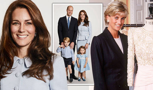 Kate continues to pay tribute to her mother-in-law Princess Diana Photo (C) GETTY