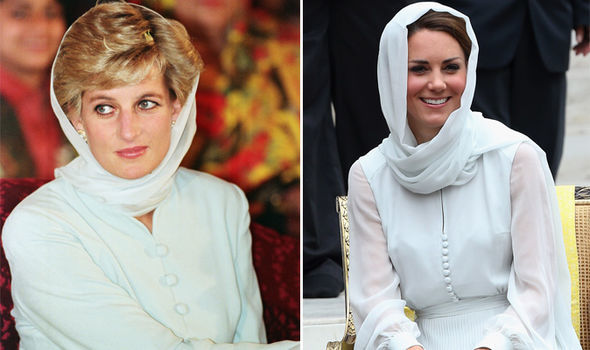 Kate has followed in the footsteps of Princess Diana this year