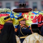 King Michael was given a full state funeral. Credit AP