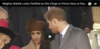Meghan Markle Looks Petrified as She Clings to Prince Harry at Royal Christmas Service 2017
