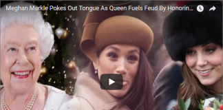 Meghan Markle Pokes Out Tongue As Queen Fuels Feud By Honoring 'Princess Cheeky' Over Kate Middleton