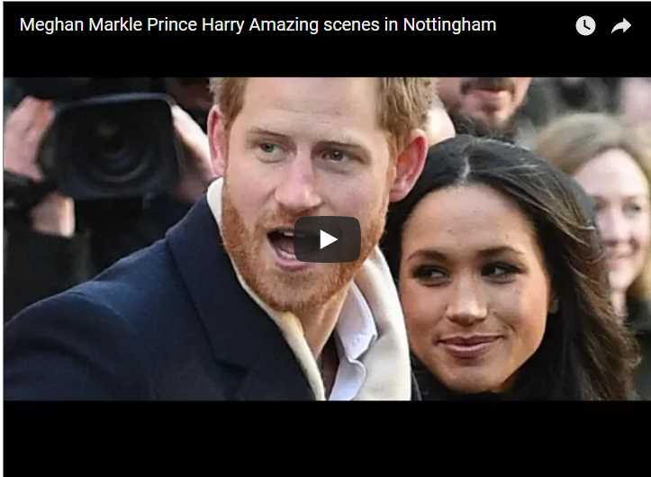 Meghan Markle Prince Harry Amazing scenes in Nottingham