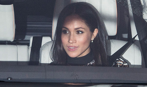 Meghan Markle attended the royal family's pre-Christmas party on Tuesday Photo (C) GETTY