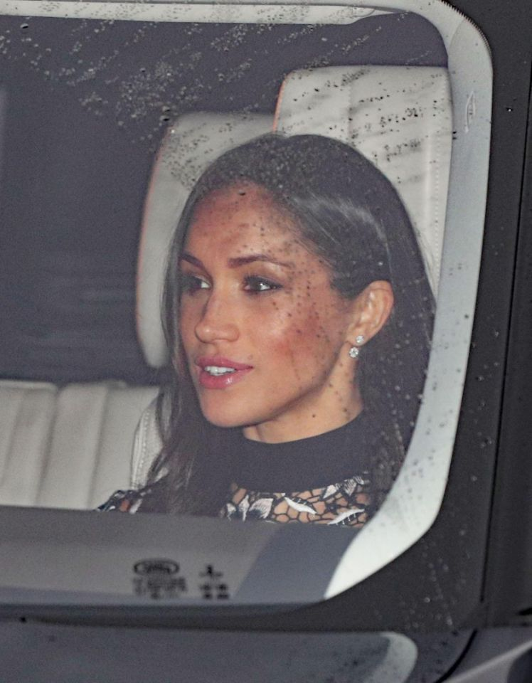 Meghan Markle going with Prince Harry to attend Queen Elizabeth II Buckingham Palace Photo (C) GETTY IMAGES