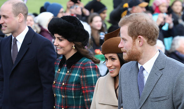 Meghan Markle joined the ceremony in a break from tradition Photo (C) GETTY