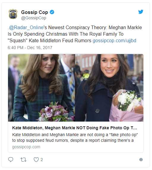 Newest Conspiracy Theory Meghan Markle Is Only Spending Christmas With The Royal Family To Squash Kate Middleton Feud Rumors Photo (C) TWITTER