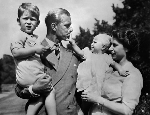 The Queen and Duke present Prince Edward to the public shortly after his birth in 1964 Photo C GETTY