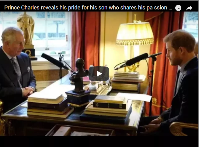 Prince Charles reveals his pride for his son who shares his passion for environmental issues